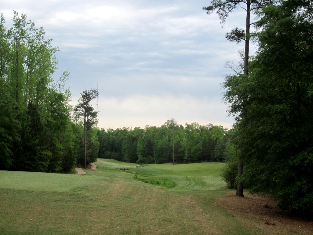 5th Hole at Auburn University Club (449 Yard Par 4)